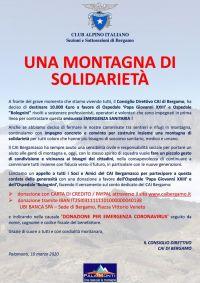 Donazione Ospedale Giovanni XXIII
